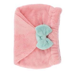 Schnelltrocknende Haar Handtuch Weiche Haarturban, Plüsche Mädchen Kopfhandtuch für Lange Haare