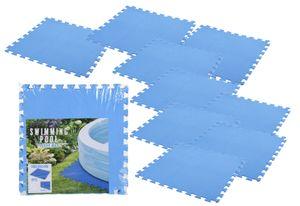 Bodenmatte in blau - 9 Stück 50x50cm - Poolmatte 4mm