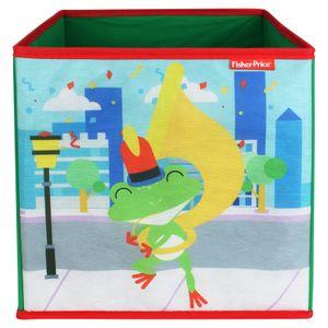 Fisher-Price Faltbox 30x30cm - Aufbewahrungsbox - Spielzeugkiste - Spielzeugtruhe - Frosch
