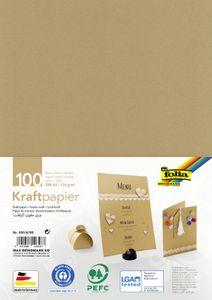 folia Kraftpapier 120 g/qm DIN A4 100 Blatt