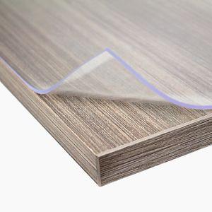 Premium Tischdecke PVC Tischfolie Schutz Folie transparent / klar oder matt 2mm , Ausführung:transparent, Größe:100 cm x 200 cm