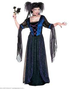Kostüm Gothic Prinzessin - Schloßkostüm - Mittelalter Hexe Halloween XXL - 50/52