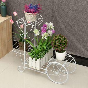 Sunnyme Blumentreppe mit 4 Etagen aus Metall in Weiß Pflanzentreppe Pflanzenregal für Ecke Blumenständer Blumenregal Pflanzenständer