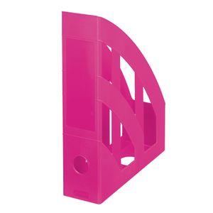4x Herlitz Stehsammler / Plastik Stehordner / Farbe: pink