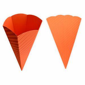 Creleo - Schultüte orange aus 3D Wellpappe 68cm 1 Stück - Zuckertüte als Rohling zum basteln, bemalen und bekleben