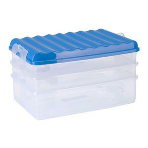 Frischhalte-Stapelbox m. Deckel 3-teilig Frischhaltedose Isolierdose Box Dose
