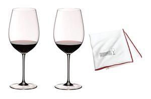 Riedel Sommeliers Bordeaux Grand Cru 2er Vorteilsset mit Glastuch 2 x 4400/00 + 5010/07 Vorteilsset