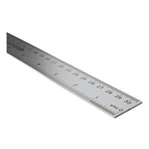 Metall-Lineal 30 cm grau