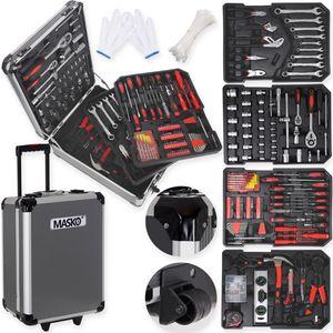 Masko® 969 tlg Werkzeugkoffer Werkzeugkasten Werkzeugkiste Werkzeug Trolley ✔ Profi ✔ 949 Teile ✔ Qualitätswerkzeug , Farbe:Anthrazit