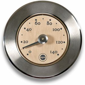 OPA Stainless & Wood Sauna Thermometer - Finnish Design