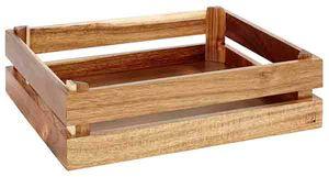 APS Holzbox -SUPERBOX-  /// 35 x 29 cm, H: 10,5 cm  /// Akazienholz  /// passend zu GN 1/2 /// 11621