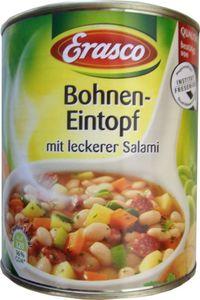 Erasco Weiße Bohnen Eintopf mit Salami und Gemüse in der Dose 800g