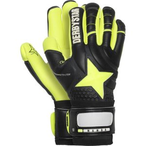 Derbystar Mamba Torwarthandschuhe schwarz gelb 10