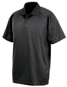 Herren Performance Aircool Polo, Polyester eye-bird-Mesh - Farbe: Black - Größe: 4XL