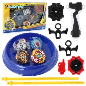 VOKARALA beyblade , 4 Stück Kampfkreisel Set, 4D Fusion Modell Metall Masters Beschleunigungslauncher, Speed Kreisel, Kinder Spielzeug, Geburtstagsgeschenke oder Feiertagsgeschenke für Kinder