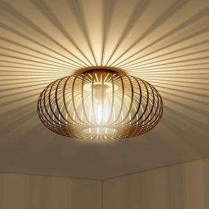 COSTWAY Deckenleuchte antik, Deckenlampe Retro Lampe Vintage Metall, Ideal fuer Wohnzimmer, Kueche Kupferfarben / 60W / E27 Fassung