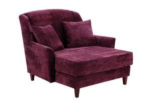 Max Winzer Judith Big-Sessel inkl. 1x Zierkissen 55x55cm - Farbe: burgund - Maße: 136 cm x 142 cm x 107 cm; 2891-767-2044135-F07