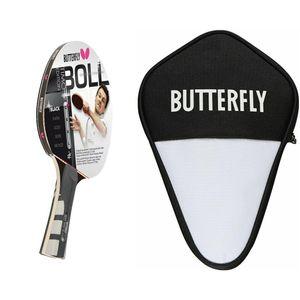 Butterfly Timo Boll Black Tischtennisschläger + Tischtennishülle Tischtennis Set