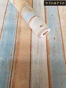 Folie selbstklebend Holz Bretter Paneel Strandhaus bunt vintage 10 m x 45 cm 3022 Dekorationsfolie