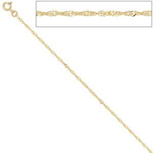 JOBO Singapurkette 333 Gelbgold 1,8 mm 50 cm Gold Kette Halskette Federring