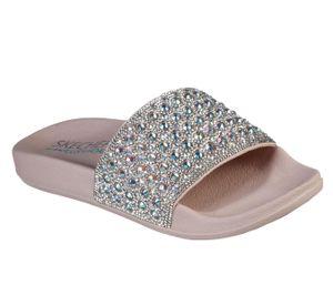 Skechers Damen Pantoletten/Badeschuhe POP UPS FEMME GLAM Rosa/Silber, Schuhgröße:EUR 39