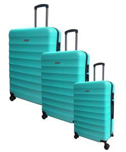 Carryone 3tlg. Kofferset türkis Set Koffer Trolley Reisekoffer Case Hartschale