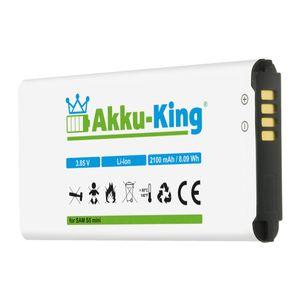 Akku kompatibel mit Samsung EG-BG800BBE - Li-Ion 2100mAh - für Galaxy S5 Mini, DuoS SM-G800F, S5 Dx SM-G800H, SM-G800Y