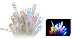 20er LED Lichterkette Batterie bunt für innen