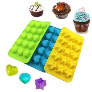 Silikonform, Antihaftbeschichtung, lebensmittelechtes Silikon, für Süßigkeiten, Schokolade, Gelee, Eiswürfel,3 Stück