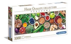 Clementoni puzzle HQ Panorama - Gesundes Gemüse 1000 Teile