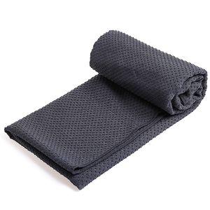 Yoga-Handtuch rutschfeste mattengrosse, weiche, absorbierende Mikrofaserdecke Hot Yoga Pilates Faltbar, waschbar fuer Picknickcamping im Buero der Turnhalle