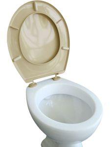 VCM WC Sitz Toilettendeckel Klodeckel Toilettensitz Deckel Brille Klobrille Iseo Verstellbare Scharniere Beige