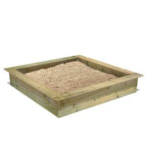 FATMOOSE PowerPit Sandkasten mit Sitzrand 165 x 165 cm
