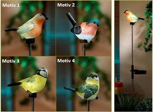 Solar Gartenstecker Vogel