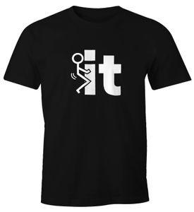 Herren T-Shirt FunShirt Fuck it Strichmännchen Fun Moonworks®  M