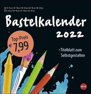 Bastelkalender 2022 groß schwarz