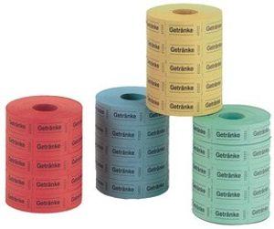 Herlitz Eintrittskarten 1.000 Abrisse je Rolle zufällige Farbe (5 Rollen)