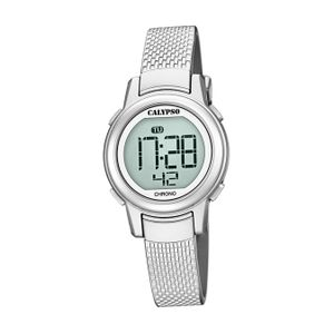 Calypso Kunststoff PolyurethanKinder Uhr K5736/1 Armbanduhr silber Junior D2UK5736/1
