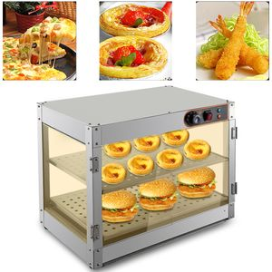 Warmhaltevitrine Heißetheke Speisenwärmer Heiße Theke Aufsatzvitrine Warmhaltetheke Gastro 30-85°C 800W