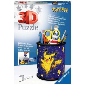 RAVENSBURGER 3D Puzzle-Organizer Utensilo Pokémon Pikachu Stifthalter Box 54 pcs