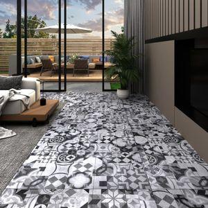 PVC-Laminat-Dielen 5,02 m² 2 mm Selbstklebend Grau Muster