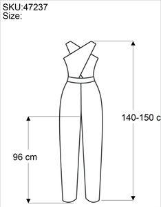 Boho Batik Jumpsuit, Sommer Overall, Hosenkleid - Weiß, Damen, Viskose, Lange Hosen