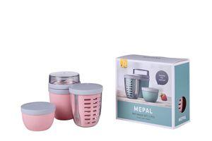 Mepal Jubiläums-Set Pot-Range Ellipse nordic pink, 3-teilig