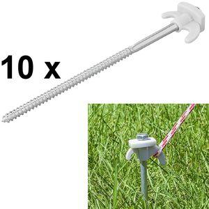10 x Schraubheringe 20cm Schraub Heringe Metal Erdnägel Zelt Ø7mm Herringe Set