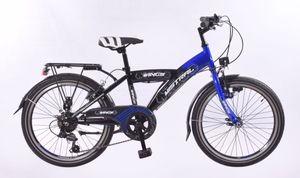 26 Zoll Kinder Jungen City Fahrrad Kinderfahrrad Jungenfahrrad Cityfahrrad Citybike Bike Rad Led Dynamo Beleuchtung STVO 6 Gang Shimano Mistral Blau