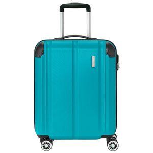 Travelite City 4-Rollen ABS Bordtrolley Kabinen Trolley S 55 cm 3,1 kg, Farbe:Petrol
