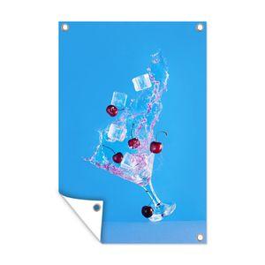 Gartenposter - Bewegliches Martini-Glas - 80x120 cm