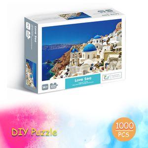 Puzzles 1000-teiliges Puzzle fuer Erwachsene Kinder Klassisches Familienpuzzle Indoor DIY Spielzeug Geburtstagsgeschenk