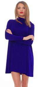 65-10 Japan Style von Mississhop Damen Longshirt Kleid Pulli Tunika Blau 2XL