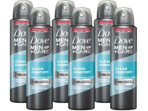 Deo Dove Men + Care  6 x 150ml Deospray Clean Comfort Deodorant Bodyspray